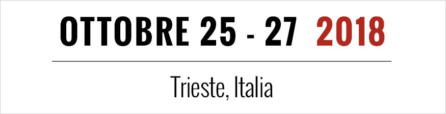 Ottobre 25 - 27 2018 Trieste, Italia